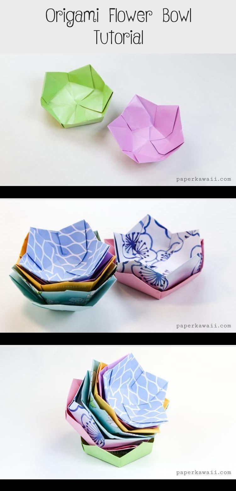 Photo of origami flower bowl #origamiEasy #origamiArchitecture #origamiCrane #origamiEnve…