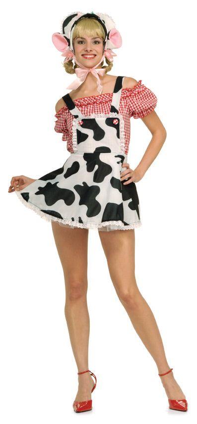 adult millie the milkmaid cow costume halloween - Halloween Costume Cow