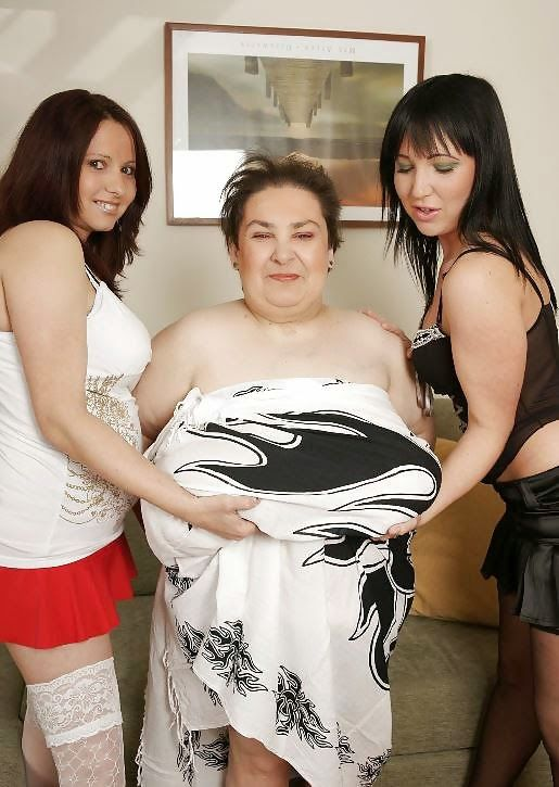 Two Young Teens With Old Fat Lesbian Granny