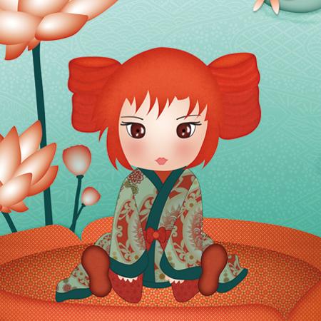 Stickers - Sweet Fabrique - Miroir de poche Kimiko Lotus
