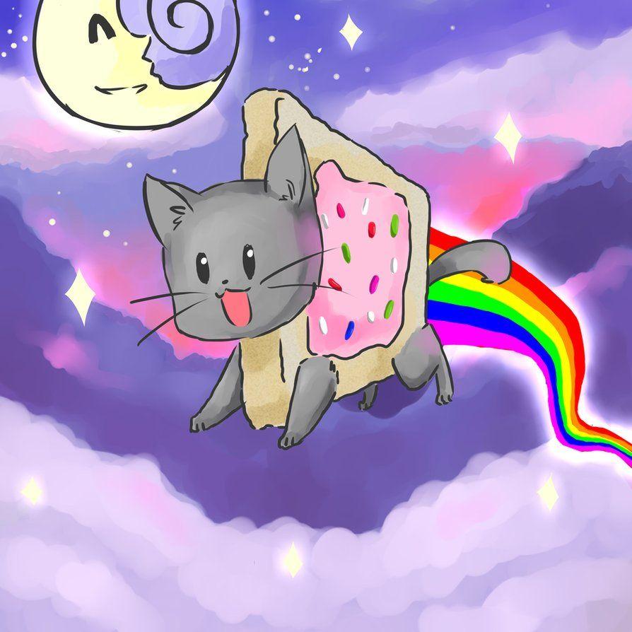 Nyan Cat Nyan Cat Cat Wallpaper Kitten Drawing