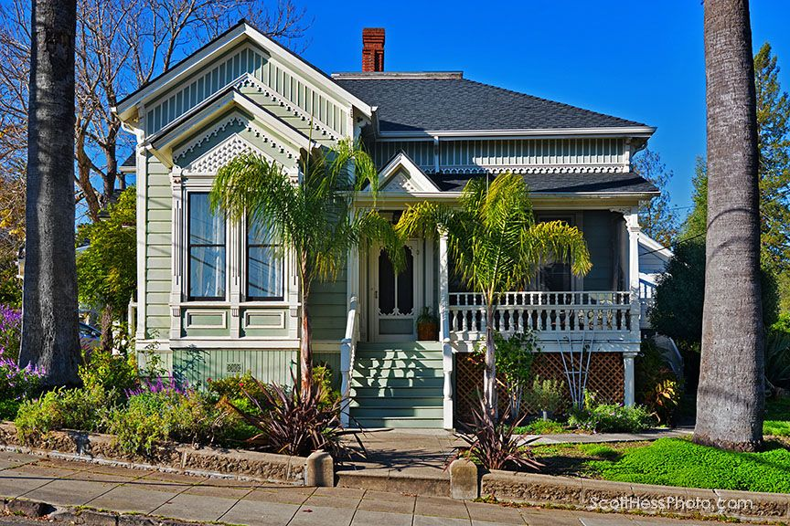 Heritage Homes Petaluma Historical Library Museum Victorian Cottage House Styles Home
