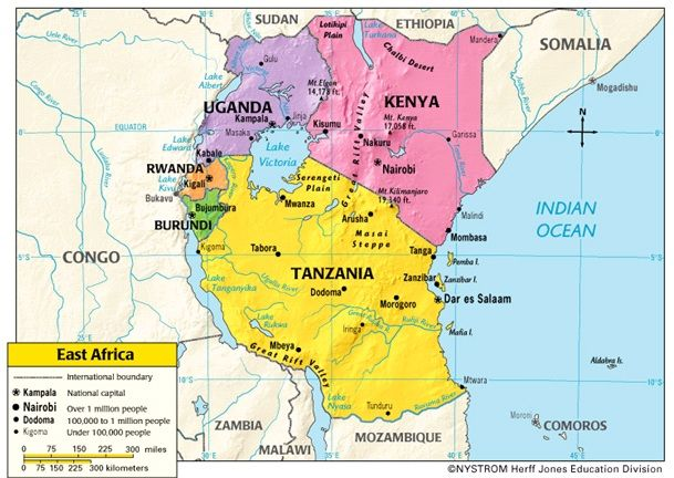 Map Of East Africa Anthro Africa East Africa Pinterest - Map of eastern africa