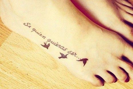 Resultado De Imagen De Tattoo En El Pie Frases Y Estrellas Para