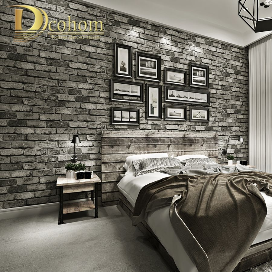 Cheap Brick Textured Wallpaper Buy Quality Wallpaper For Walls Directly From China Textured Wallp Brick Wallpaper Bedroom Brick Wall Bedroom Wallpaper Bedroom