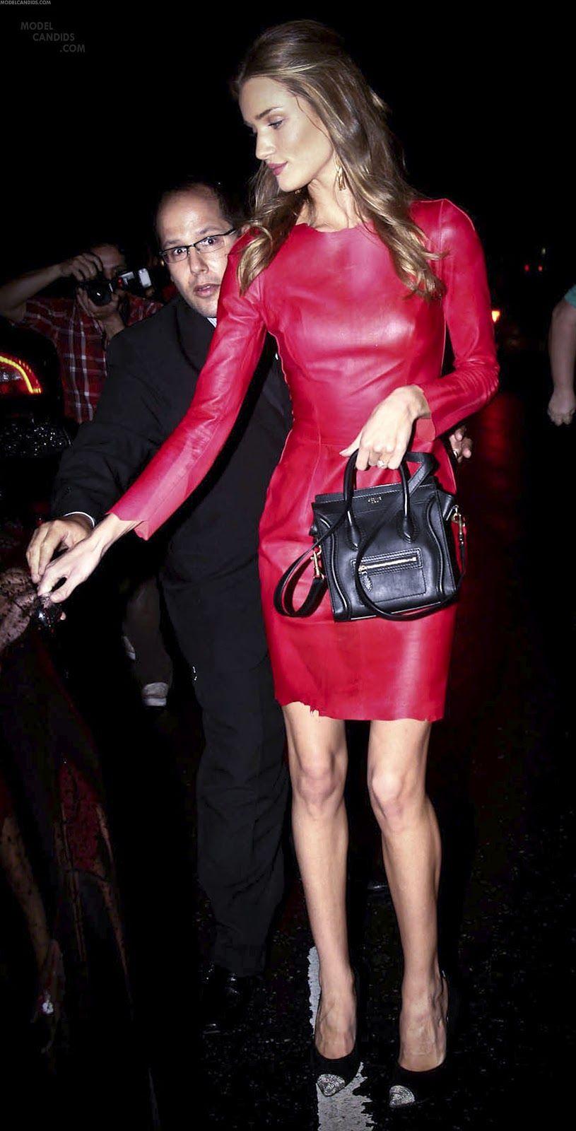 Rosie Huntington Whiteley - cherry leather dress   Rosie ...