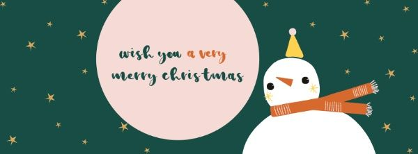 Cute snowman Christmas Facebook cover-cartoon snowman with ...