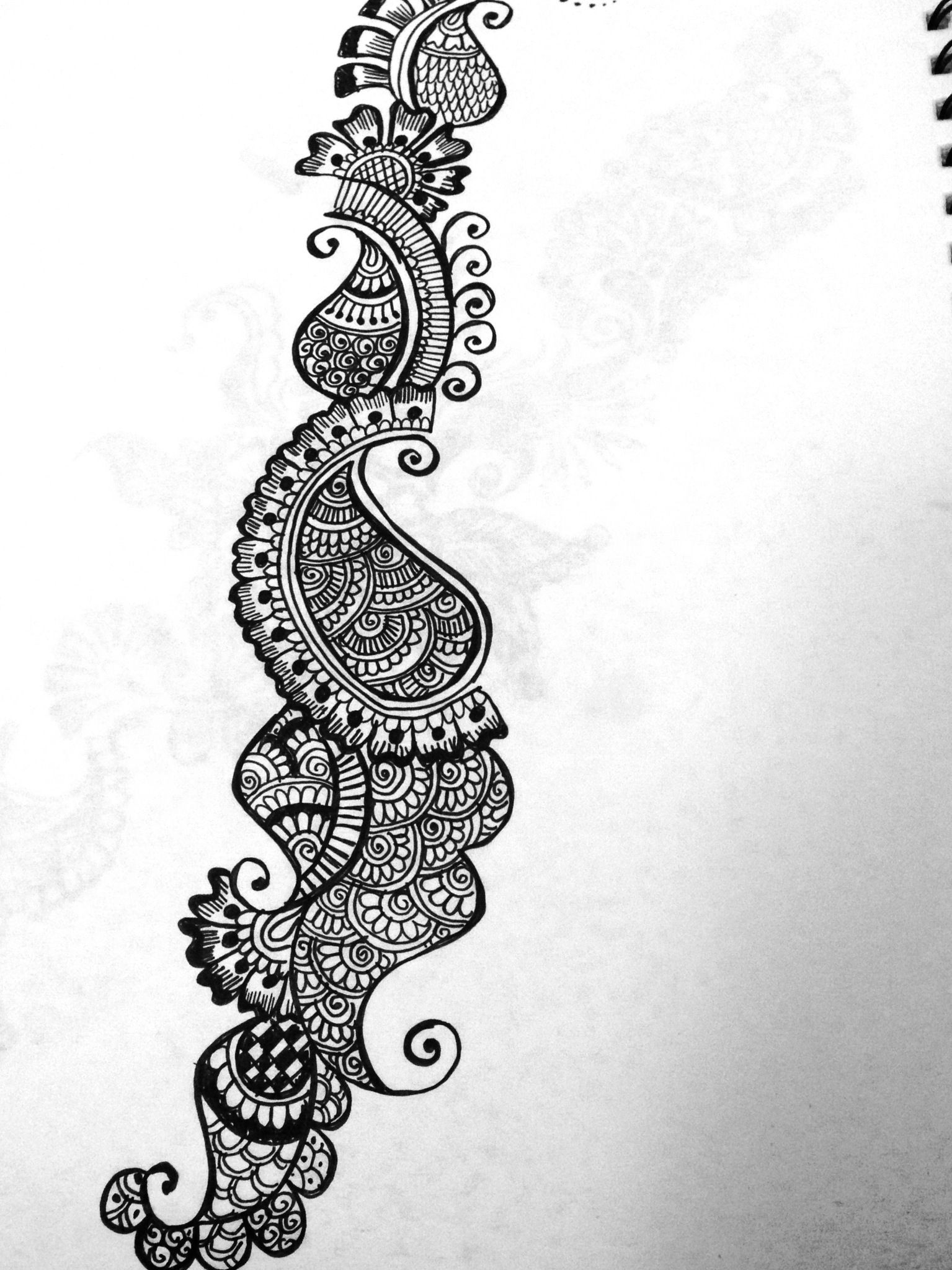 Henna sketches | Mehndi design pictures, Arabic mehndi ...