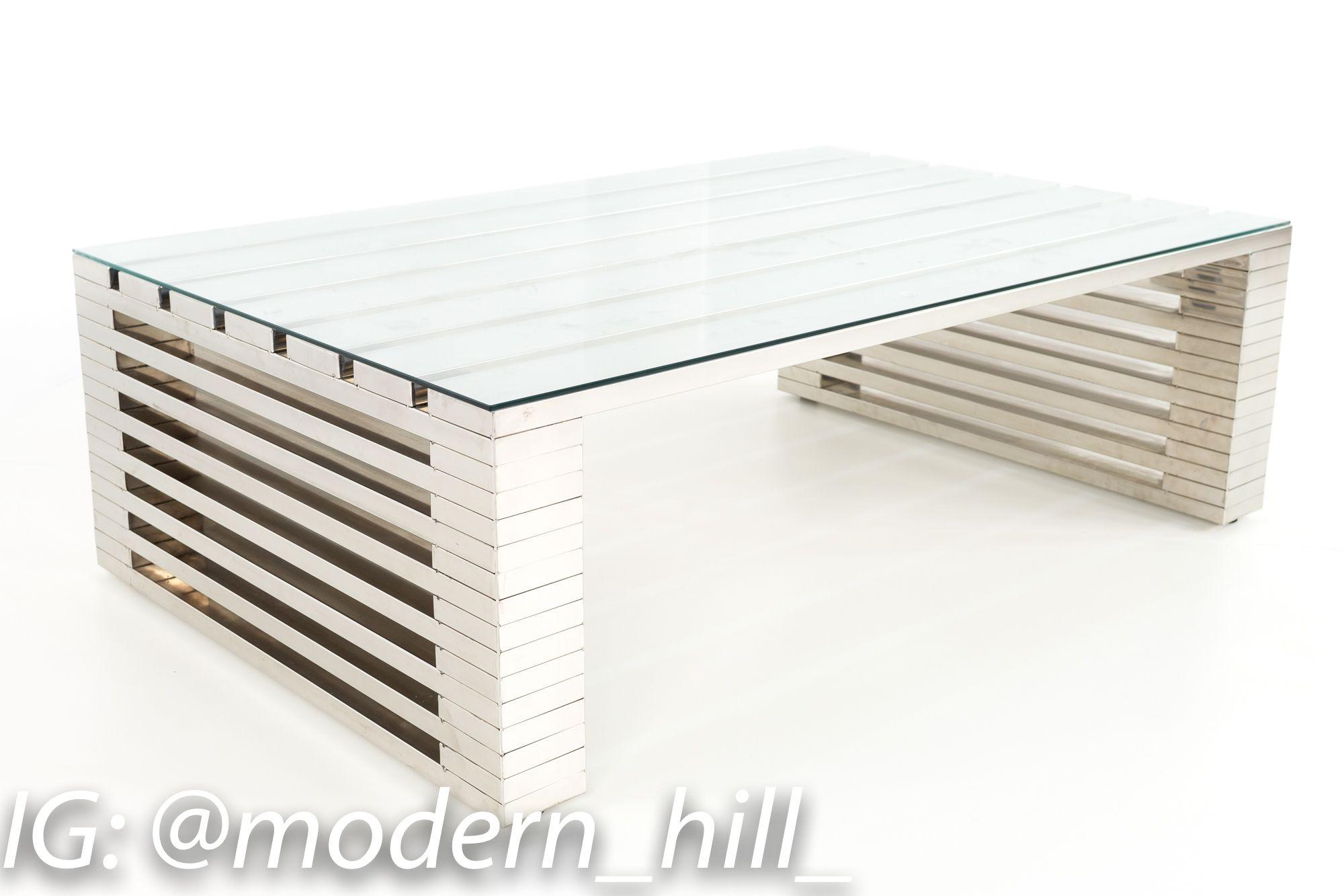 Timothy Oulton Zazenne Mid Century Modern Steel And Glass Coffee Table Glass Coffee Table Coffee Table Mid Century Modern [ 1333 x 2000 Pixel ]