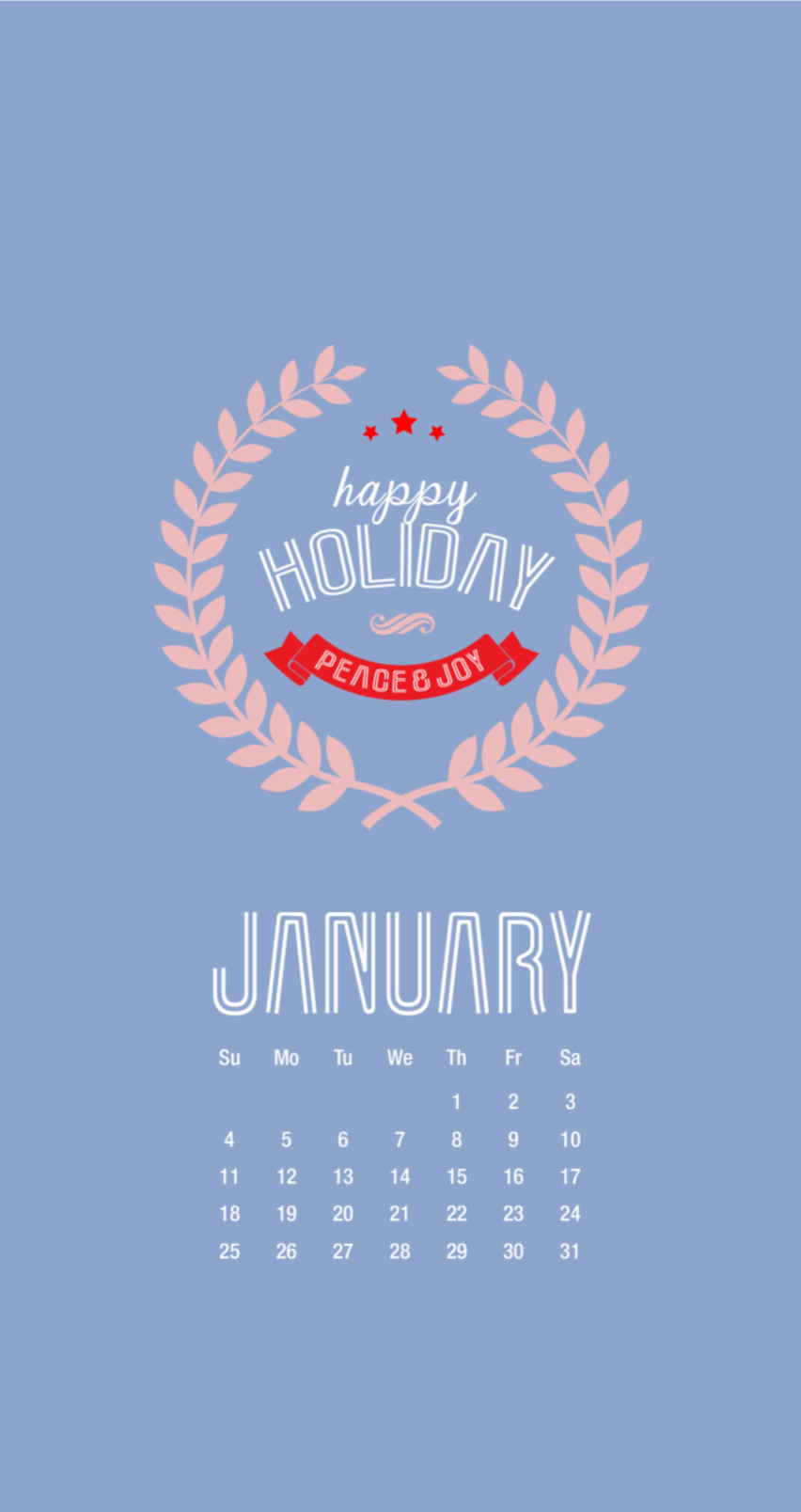 Tap Image For More New Year 2015 IPhone 6 Calendar Wallpapers January