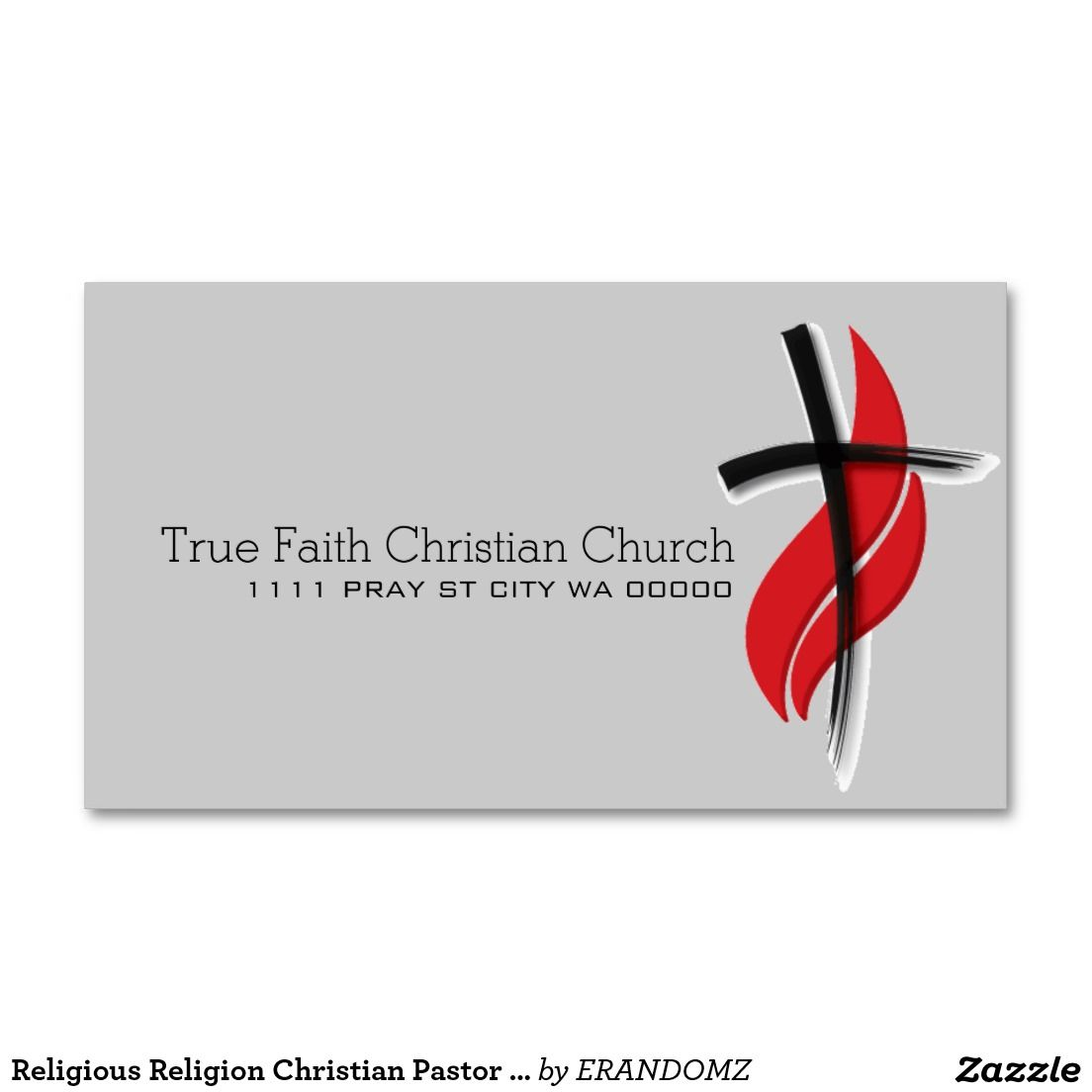 religious religion christian pastor christianity standard business card - Pastor Business Cards