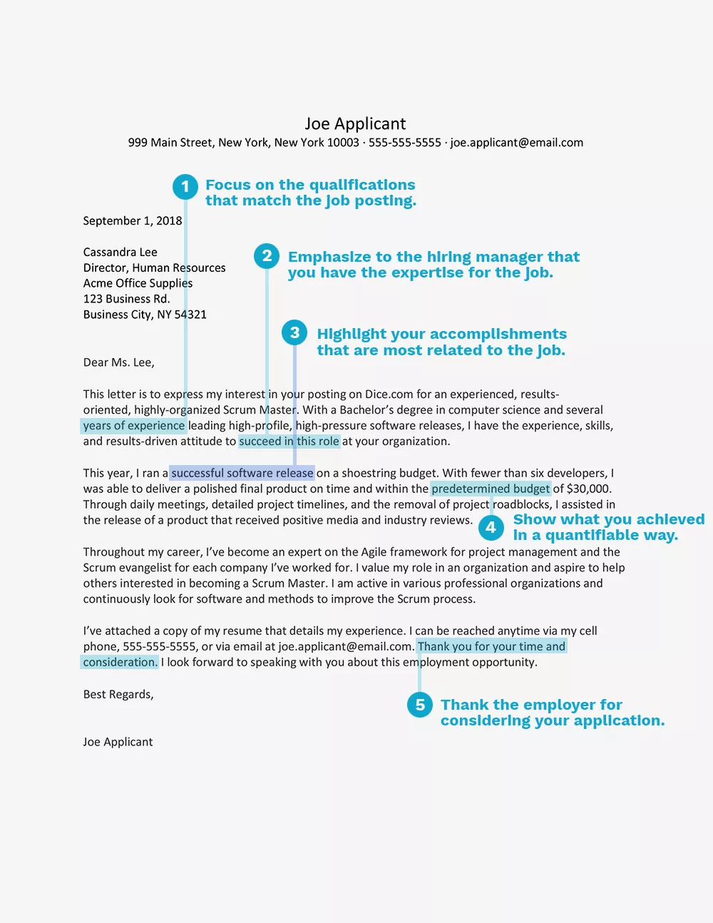 Scrum Masters See Top Examples of a Cover Letter and