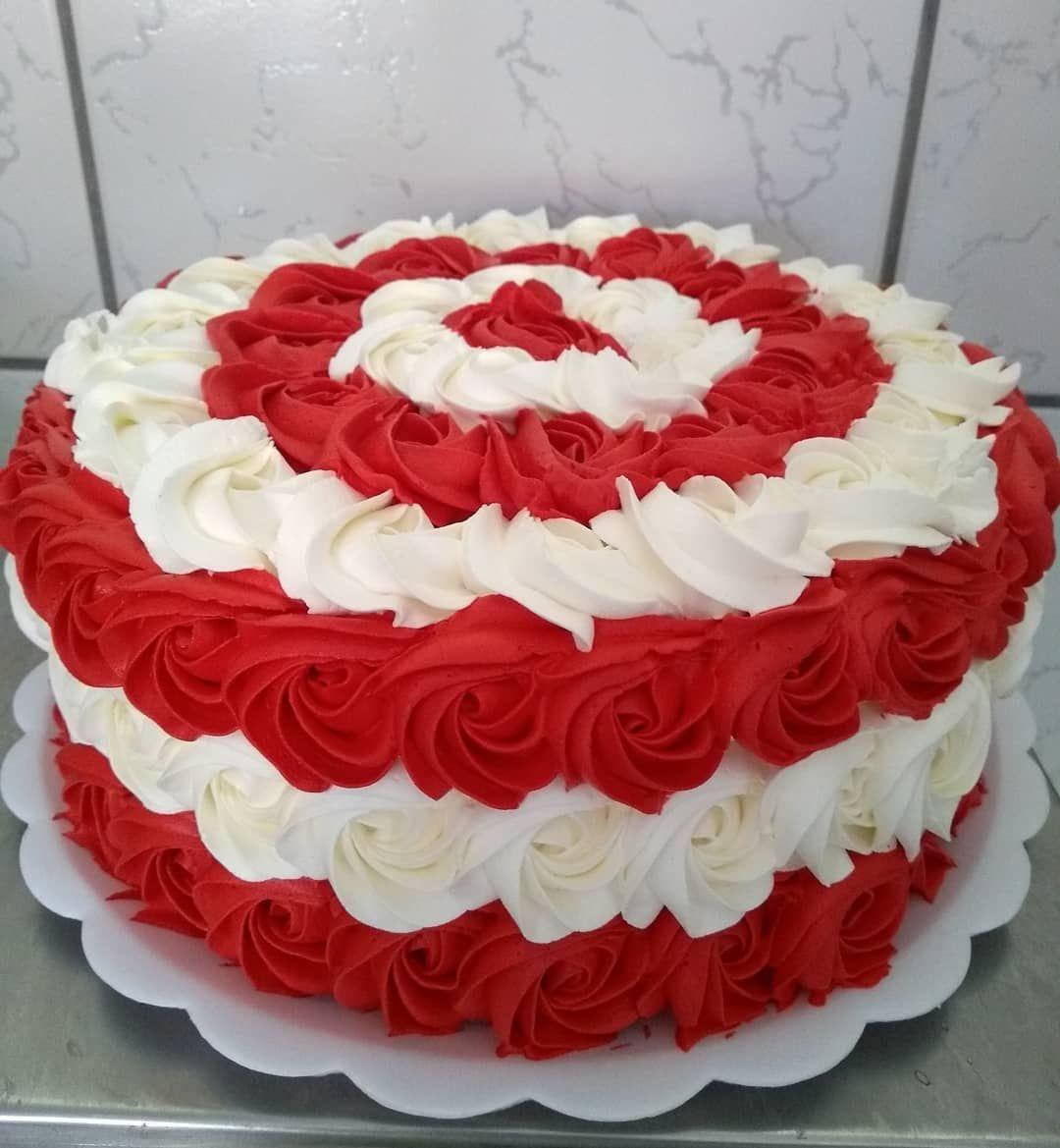 Bolo Vermelho E Branco 80 Modelos Fantasticos Confira Bolo