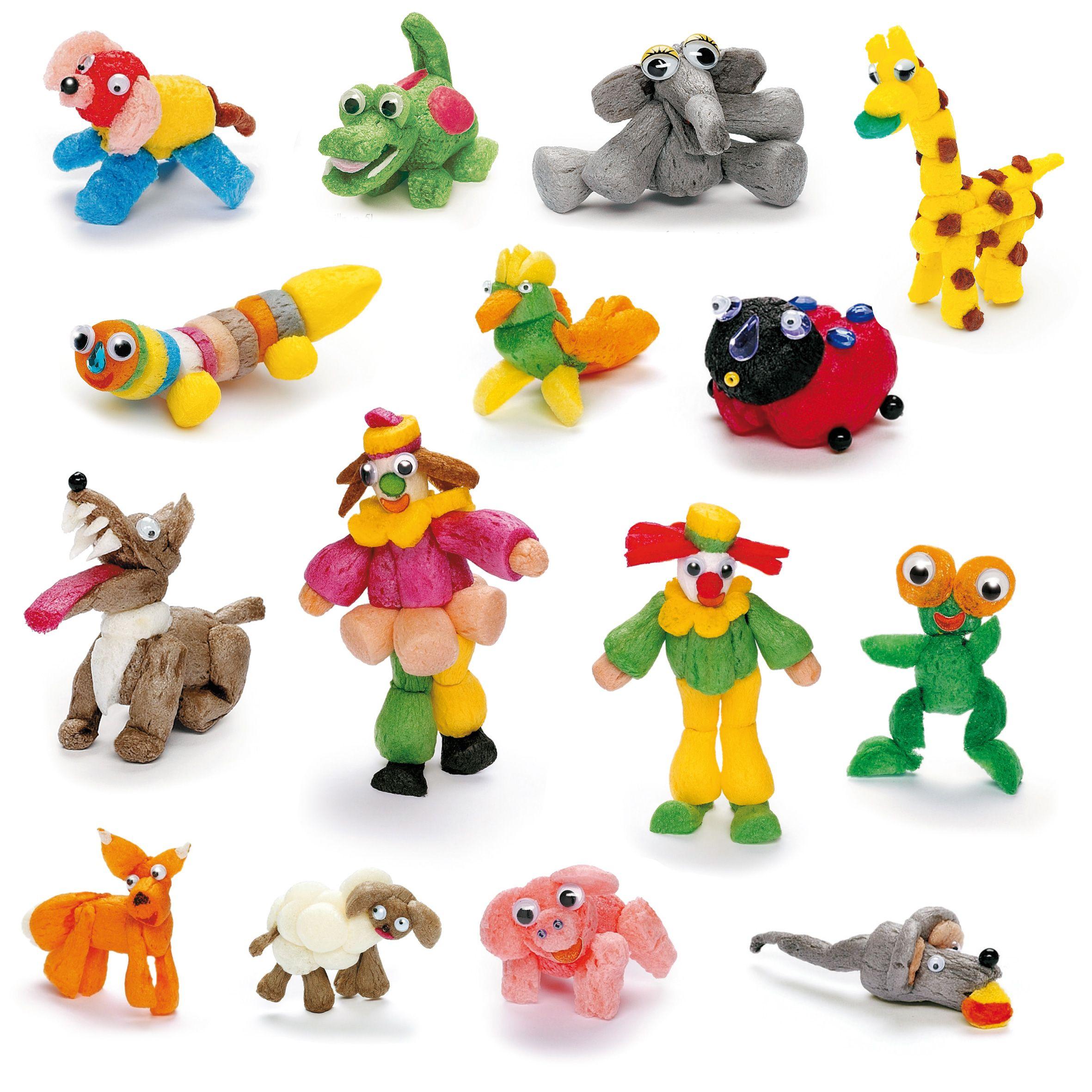 Flocons de maïs colorés pour créer des décors, des personnages, des animaux tout en s'amusant ...