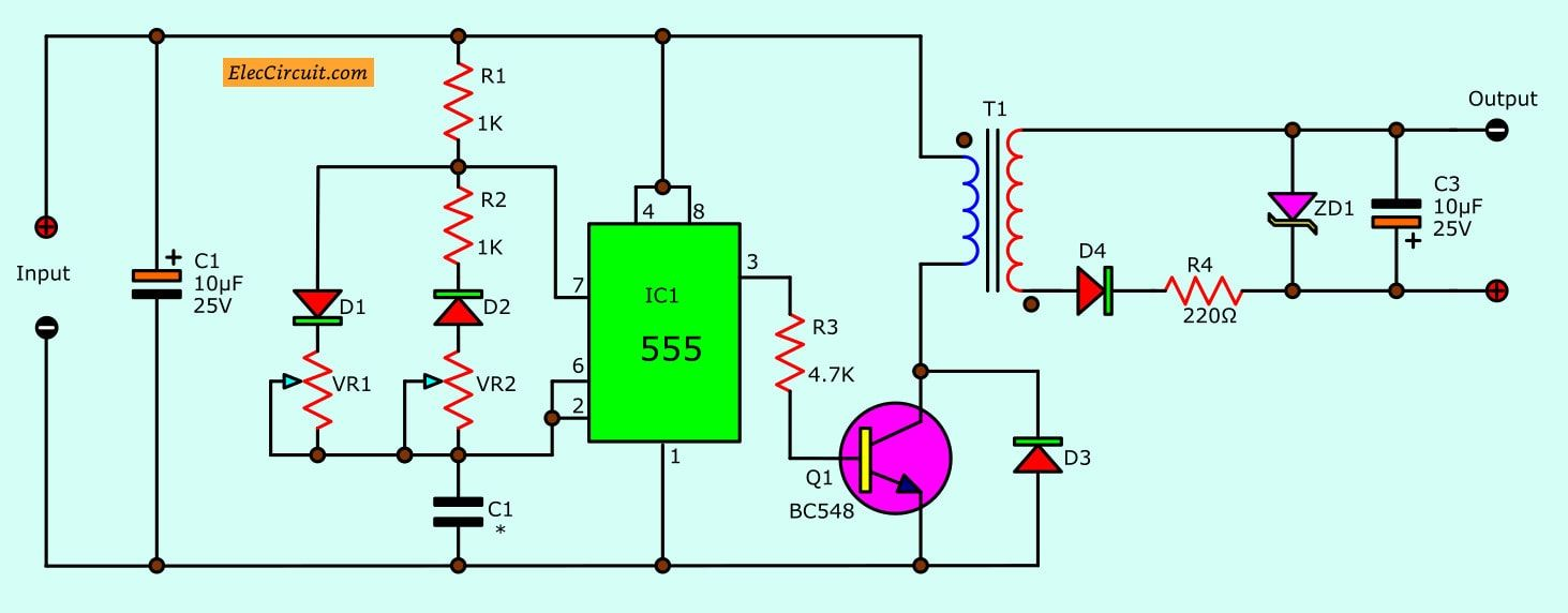 7 Ideas Of 555 Dc Boost Converter Circuits Diagram Converter Circuit Diagram Circuit