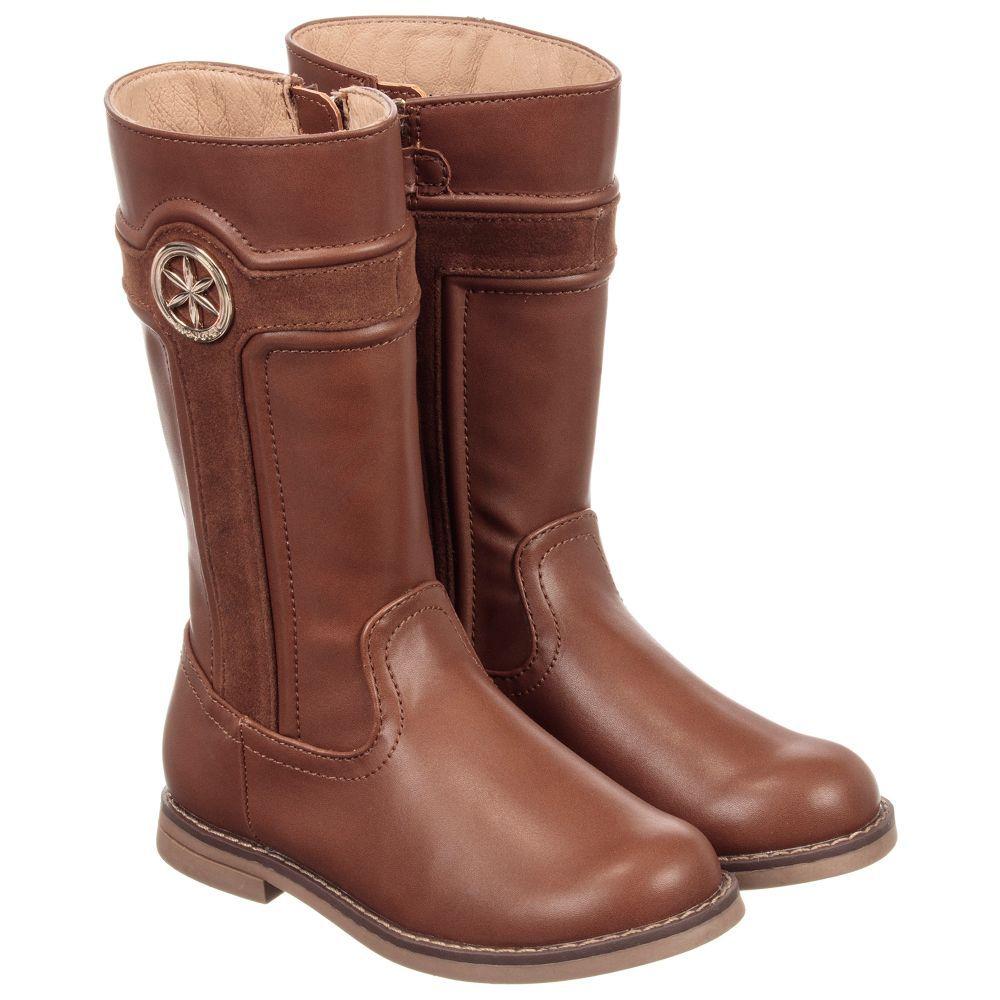 6641d025e33df Mayoral Girls Brown Long Boots at Childrensalon.com