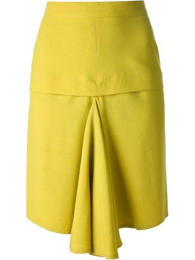 ALAÏA VINTAGE Drape Detail Pencil Skirt