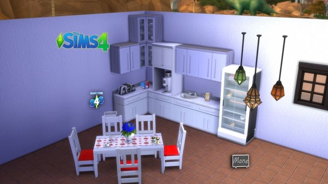 Tables and chairs at El Taller de Mane • Sims 4 Updates
