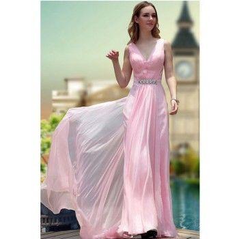 zierliche geraffte abendkleider pink alinie lang mit schleppe mit bildern  abendkleider für