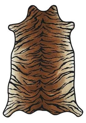 Oriental Weavers Animal Skin Rug Tiger Patterned Polypropylene Home Carpet | eBay