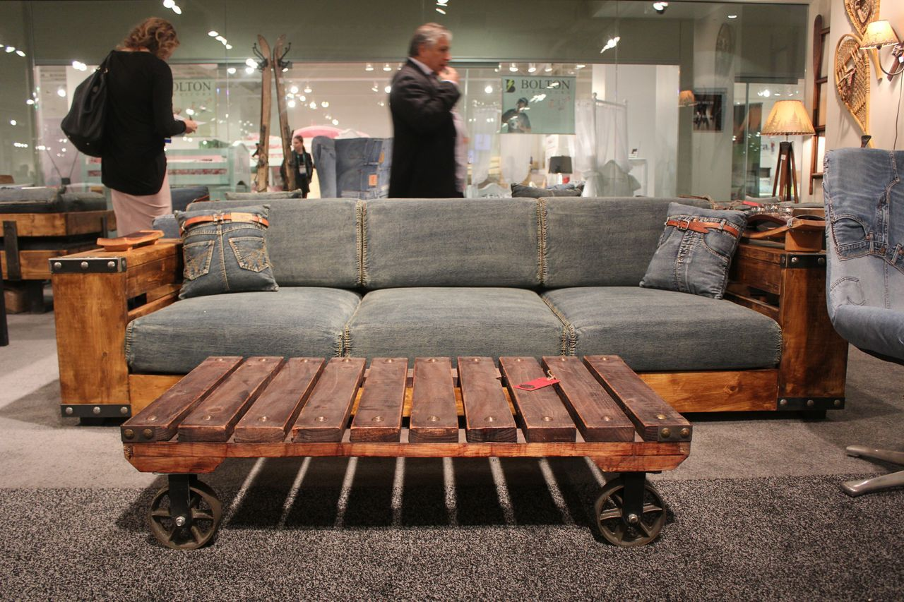 Here Is Another Interesting Denim Upholstered Sofa What Do You Think Love It Or Leave It Lvmkt Houston Tx Gallery Furniture Furniture Expensive Furniture