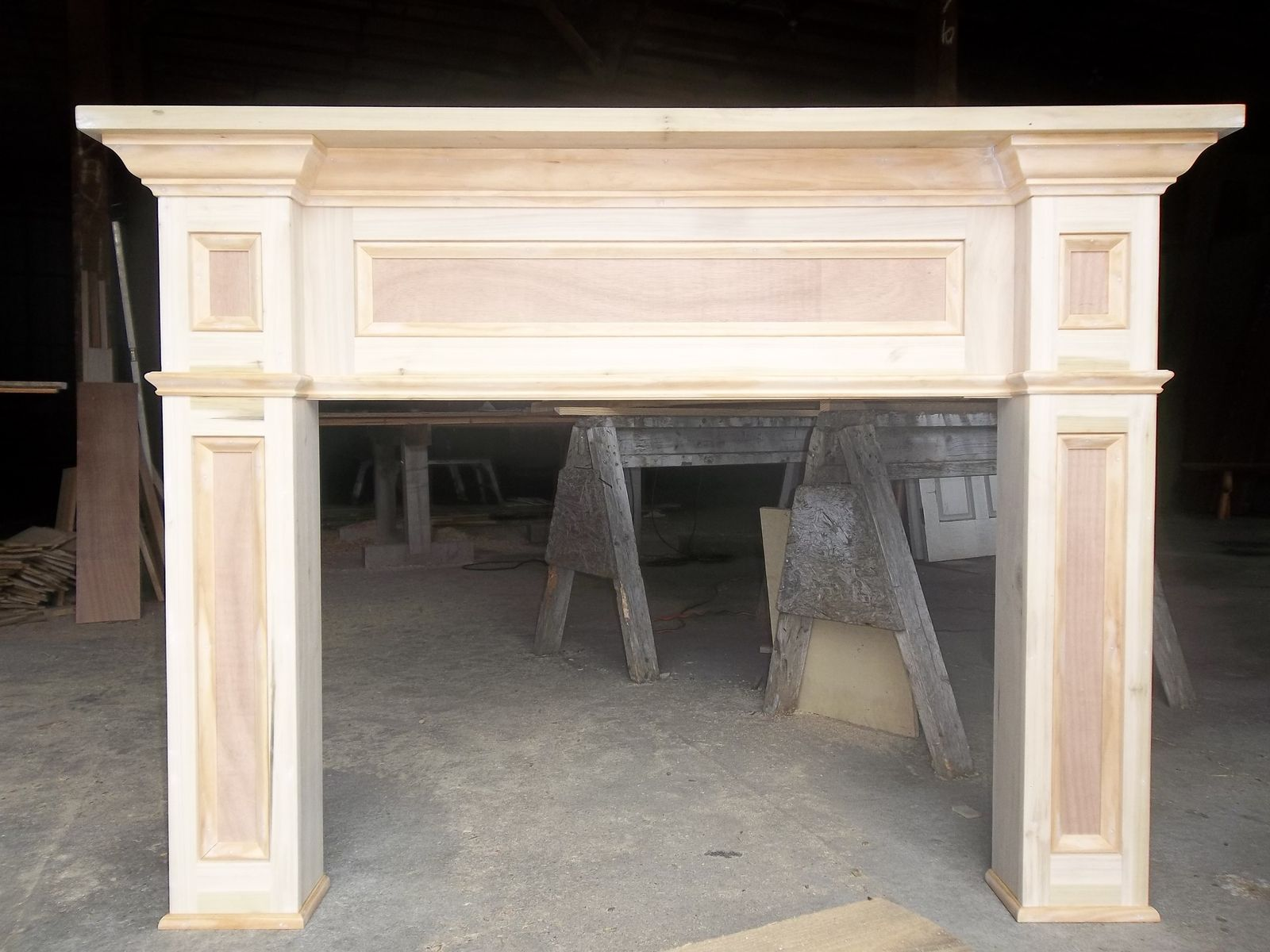 to surround surrounds fireplace and make mantels watch a how youtube mantel
