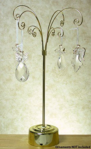 Revolving Brass Metal Wire Christmas Ornament Display Stand Tree