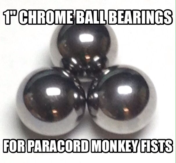 """25 3//4/"""" Inch Paracord Monkey Fist Steel Ball Bearing Tactical Cores Balls"""