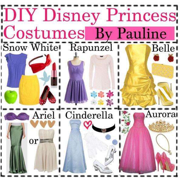 diy disney princess costumes for mickeys halloween party - Disney Princess Halloween Costumes Diy