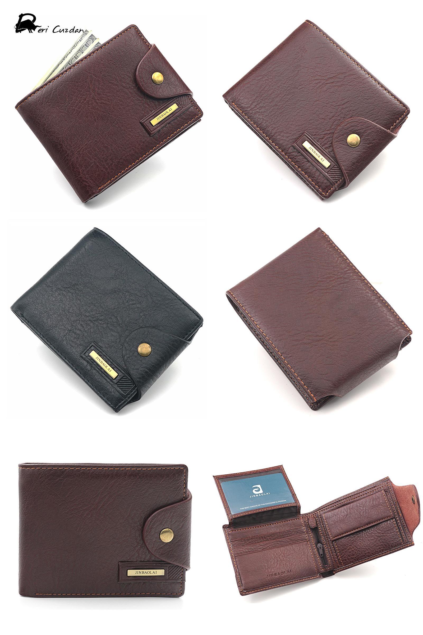 42bc63951309 [Visit to Buy] DERI CUZDAN Famous European Leather Genuine Men Wallet  Zipper Coin Pocket Short Vintage Men's Wallet Portfolio Male Clutch Purse #  ...
