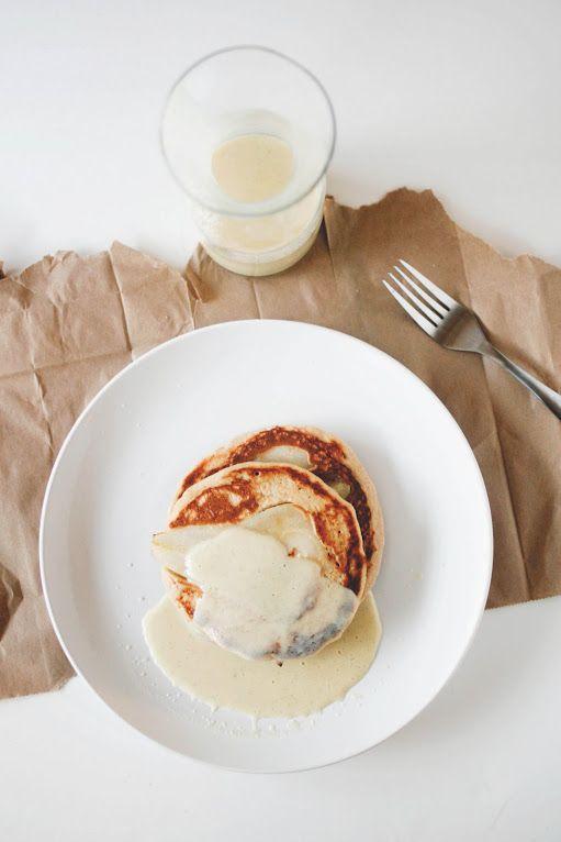 Pear-Crème fraîchePancakes