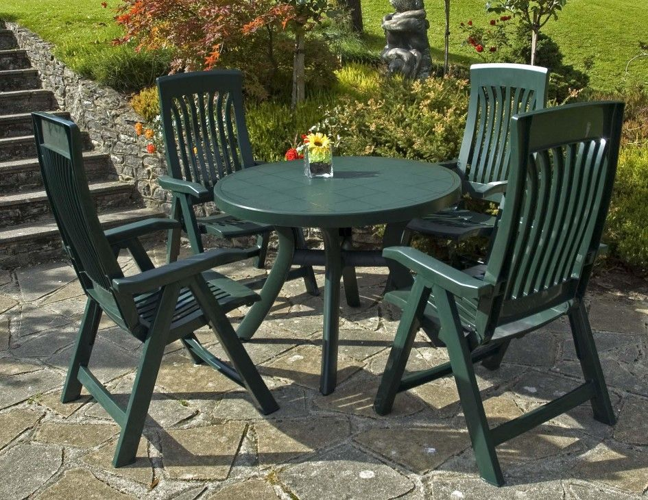 Vinyl Strap Patio Furniture Backyard Chairs Plastic Garden