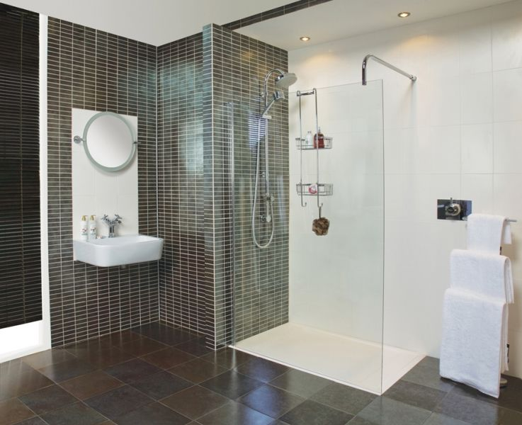Collage 1200mm corner panel csp1213s with standard brace for Wet room shower screen 400mm