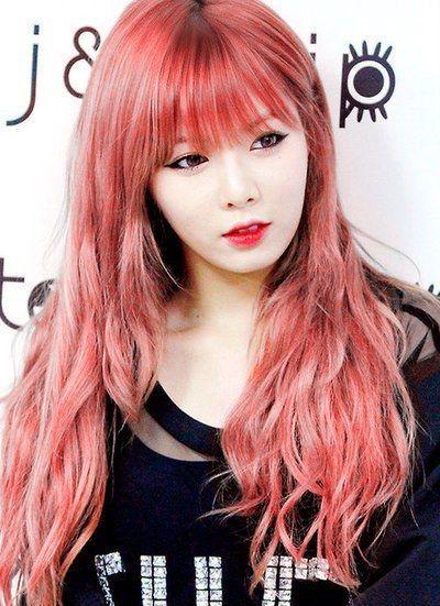 Female Idols With Pink Hair K Pop K Fans Hyuna Hair Pink Hair Sunset Hair