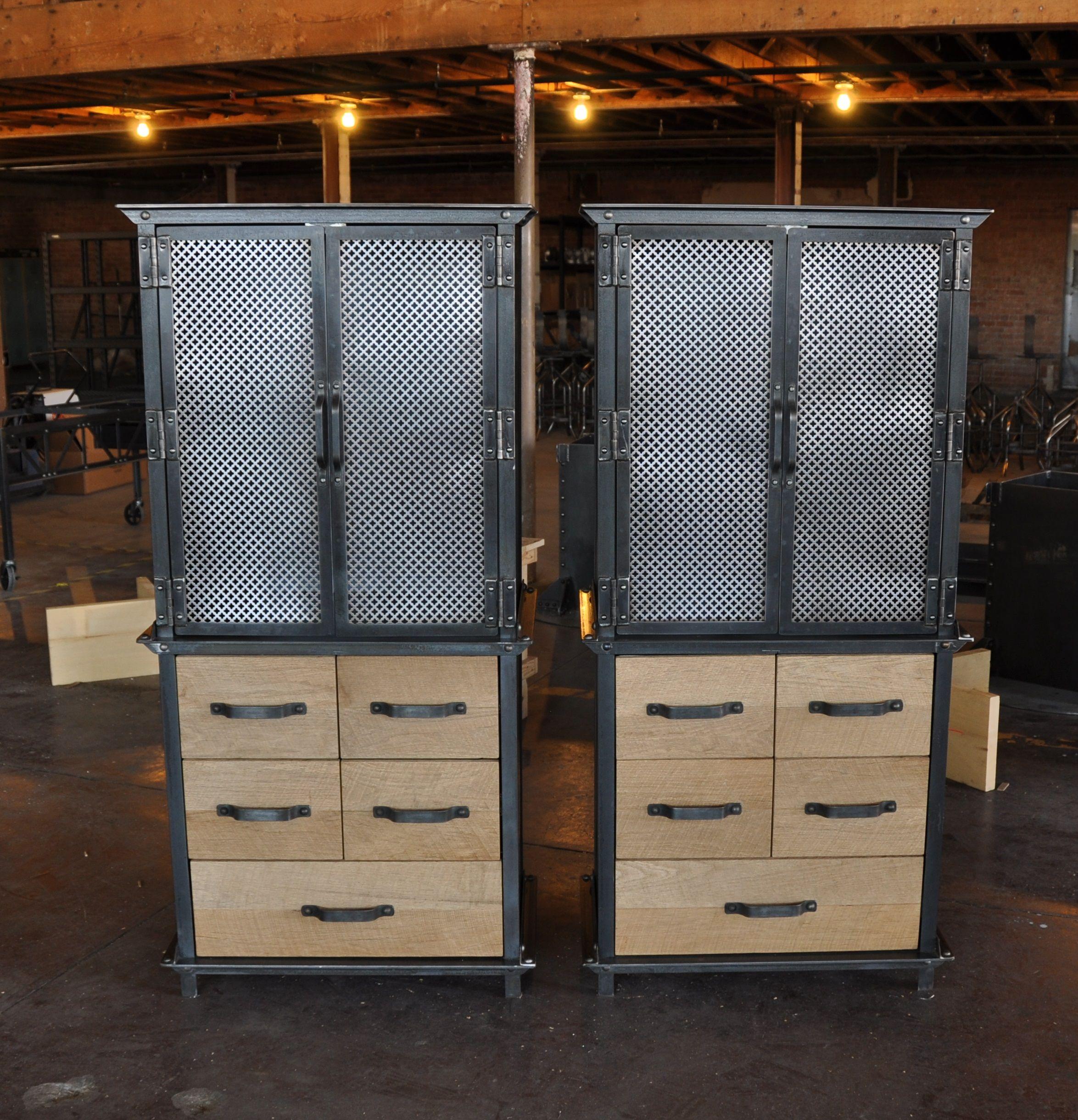 Custom Ellis Armoires   Vintage Industrial Furniture Design ...