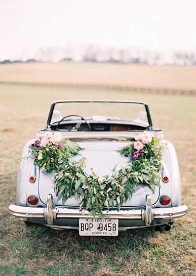 6 Surprising Ways To Decorate With Flowers Wedding Getaway Car