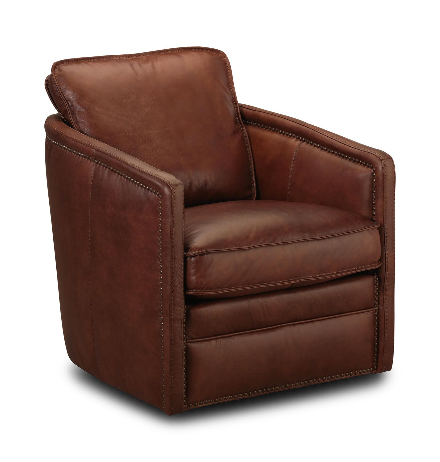 Pivot Leather Swivel Chair Leather swivel chair, Hom