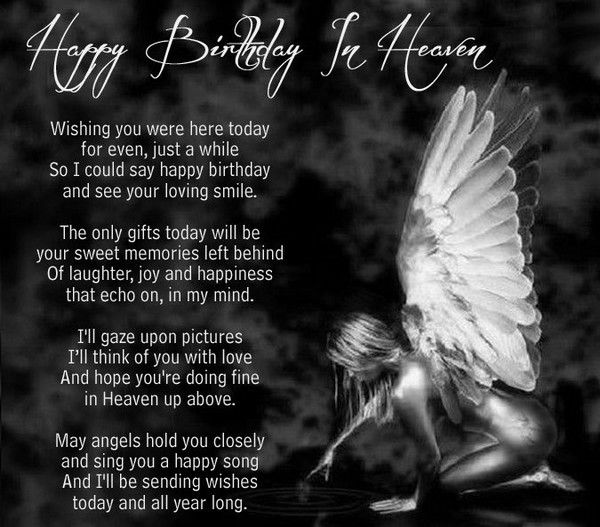 72 Beautiful Happy Birthday In Heaven Wishes Heavens Pinterest