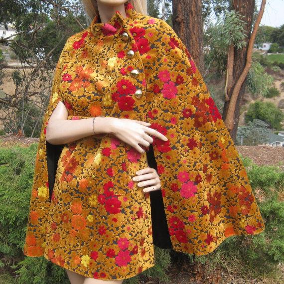 Vintage 60s Bohemian Rhapsody Mod Floral Tapestry Carpet 60s Fashion Vintage Outfits Fashion