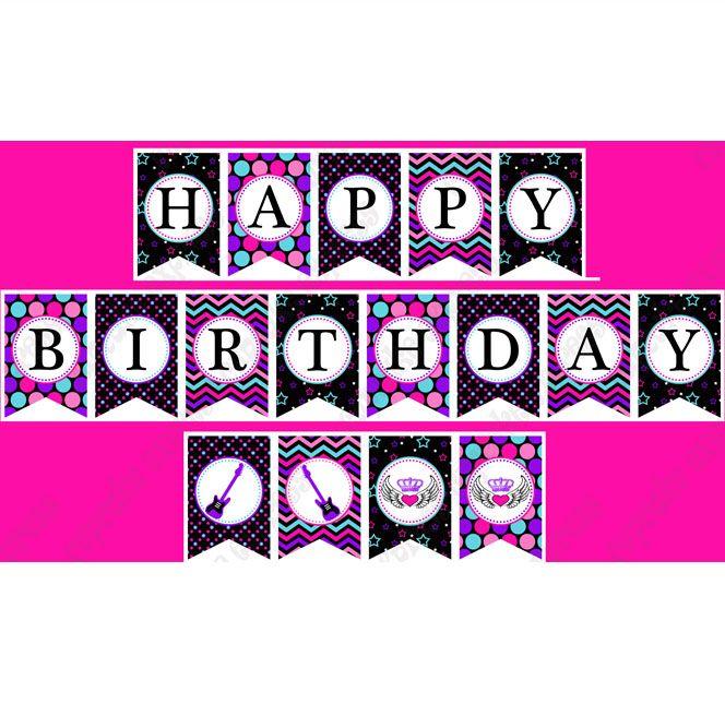 printable happy birthday banners