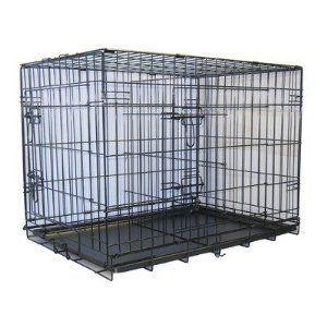 For the puppy. Amazon $88 two doors; divider; 48in