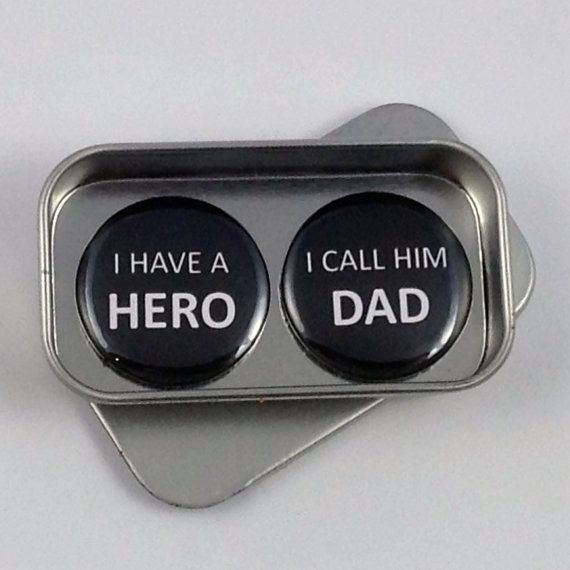 Birthday Gift Dad I Have a Hero I Call Him Dad Magnet Gift Set Fathers Day