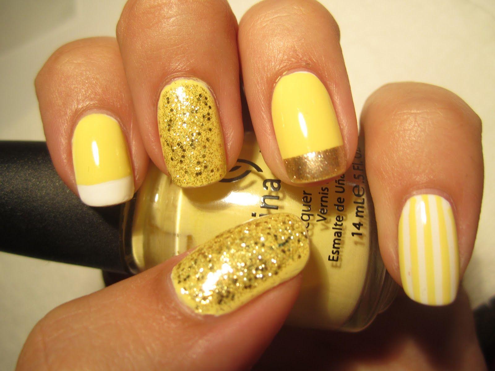 Silver Nail Yellow Gold