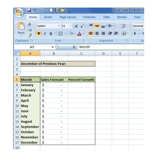 Download The Easy Forecasting Spreadsheet Capstone Sales Forecast