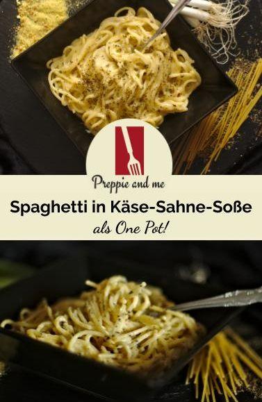 One Pot Spaghetti mit Käse-Sahnesoße! #onepotpastarecettes