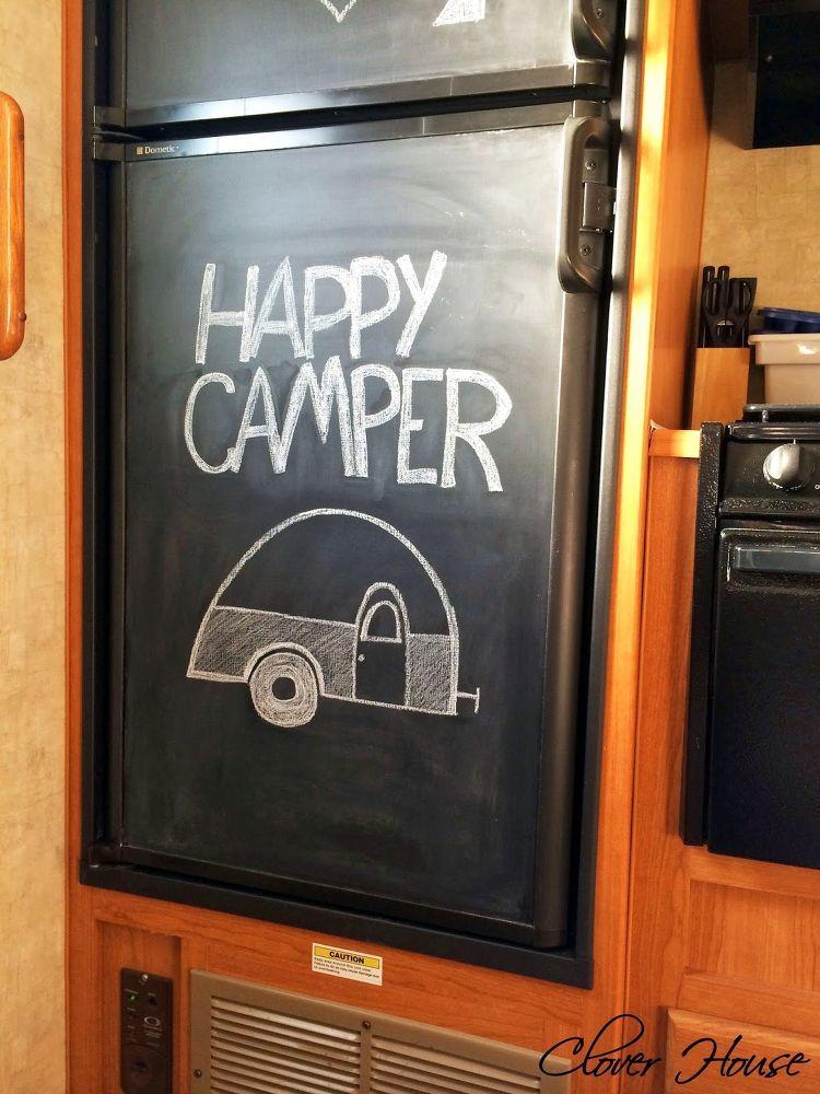 Diy camper waste tank cleaner fridge makeover diy camper