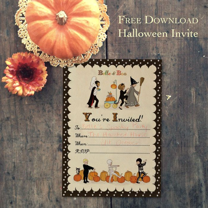 Free Printable Halloween Party Invitation Download from Belle and - halloween activities ideas