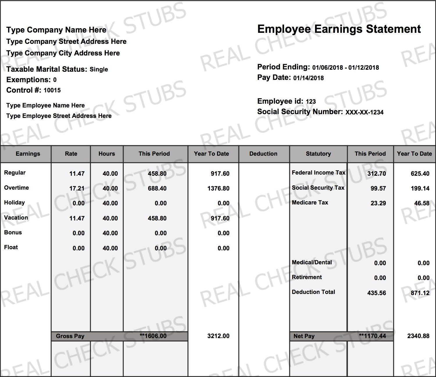 Real Paycheck Stubs Create Stubs Paycheck, Card