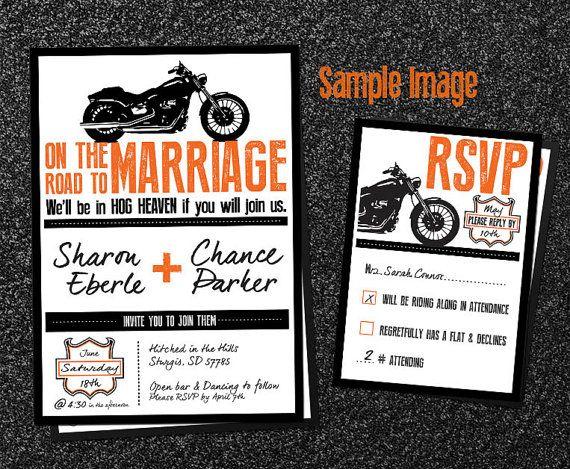 Blank Biker Wedding Invitations | Note, Invitation\' and Wedding!