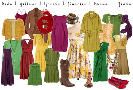 purple, red, mustard, green what to wear fall photo session